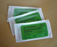 Oefen hechtmateriaal hechtdraad Nylon black 4/0 monofilament 45 cm 3/8 reverse