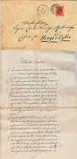 REGNO-20c(28)-Busta x Urago d'Oglio+Lettera DIRITTI DELLA DONNA 5.6.1879
