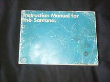 VW Instruction Manual for the Santana