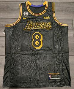 Kobe Bryant Lakers #8 #24 Black Mamba Day Snakeskin Lore Series Jersey