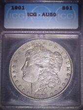 1901 Morgan Silver Dollar, ICG  AU50, Tough Date, Issue Free.