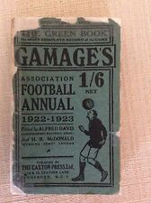 RARISSIMO ALMANACCO CALCIO 1922 - 1923  ASSOCIATION FOOTBALL ANNUAL
