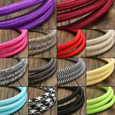 3/5/10M Vintage Color Twist Braided 2 Core Fabric Cable Electric Light Lamp Wire