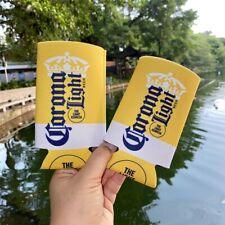 Corona Light Beer Slim Can Bottle Cooler Koozie Coozie Holder Keeps Cold 2 Pcs