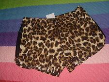 pantalon corto o short de leopardo nuevo etiquetado talla 36 marron negro