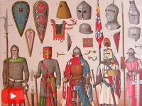 Middle Ages Europe c. 1888 Racinet lot x 15 folio color litho prints Dress Style