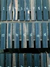 Altamente Labrado ébano africano combinadas Razor Escala De Chapa embutido Set 100x30x4