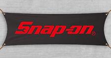 Snap On Flag Banner Tools Man Cave Car Garage Shop Black Gift Husband(18x59 in)