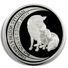 Andorra Foxes Vixen and Kit 10 Diners 1997  Proof Silver Crown KM131