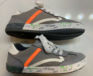 Geox Respira Casual Kids Sneakers Gray/Orange/White Youth Size US 3