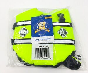 Paws Aboard Dog Lifejacket Size XS Neon Yellow *NEW* Life Jacket FREE SHIPPING!