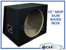 "12"" Empty Sub Subwoofer Enclosure MDF Black Carpeted Boom Bass Box Car Van Home"