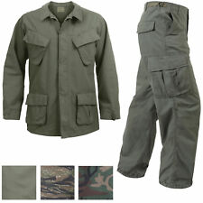 Vietnam Jungle Fatigues Military Uniform Vintage Army BDU Ripstop Tactical Cargo