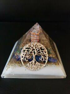 Extra Large Amethyst Aventurine Moonstone Orgone Orgonite Pyramid 75mm