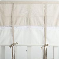 FLORA OFF WHITE BESTICKT Raffrollo 100x120cm Raffgardine Landhaus Shabby Franske