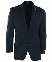 Michael Kors Men's Classic Fit Two Button Suit Jacket Blue Plaid Size 40 Regular
