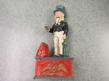 Vintage Metal Mechanical Uncle Sam Coin Piggy Bank