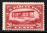 SCOTT Q8 1913 20 CENT AIRPLANE PARCEL POST ISSUE MH OG F-VF CAT $77!