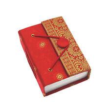 El comercio justo Hecho A Mano Rojo Mini Sari Diario Notebook Diario, Eco papel reciclado