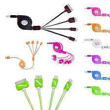 4 in 1 Multi Charger USB Charging Cable For Apple iPhone Samsung Android Mobiles