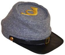 American civil war ACW confederate KEPI Hat avec Infanterie insigne XLarge 60/61cms