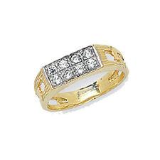 Anelli di lusso in oro giallo con zircone
