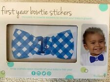 New Baby Boys Set of 12 Tiny Ideas First Year Bowtie Stickers Blue