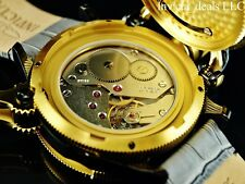 Invicta 52mm Russian Diver Nautilus Swiss Made ETA 6497 Mechanical Leather Watch