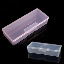 Transparent Plastic Nail Grinding Files Art Equipment Manicure Tools Storage Box