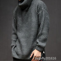 warm Winter Rollkragen Verdicken Strickwaren Sport Pullover Herrenmode Modern