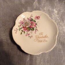 Saji Japan Fine China To Grandmother With Love Plate