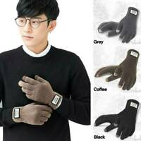 Gloves Winter Mens Warm Full Finger Mittens Touch Screen Thermal Knit Gloves New