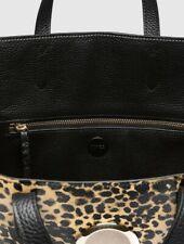 Mimco Leather Solis Tote Bag Black Handbag Pink