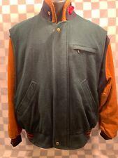 Vintage GANT The Wool Flyer Wool & Leather Jacket Men's Size L