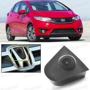 Wide Degree CCD Car Front View Camera Logo Embedded for Honda Fit 2015-2018