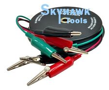 3 Wire 18 Gauge 10 Ft Retractable Test Leads Probes In Reel With Alligator Clips
