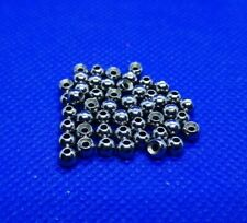 Plain uncoated Countersunk Heavy Tungsten Beads, for fly tying - Pack of 50