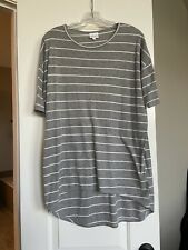 LulaRoe Irma Shirt Grey With Stripes Size XS