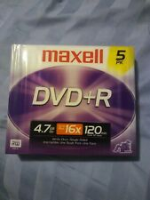 MAXELL DVD+R Recordable/Write Once 5-Pack 120 Min 4.7 GB