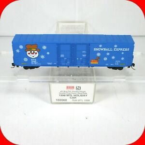 N Scale MERRY CHRISTMAS 1998 MTL HOLIDAY Box Car  SNOWBALL EXPRESS  MICRO TRAINS