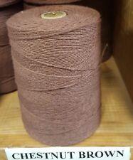 Rug Warp - Single 1/2 lb Tube - 8/4 Cotton / Polyester Blend - Chestnut Brown