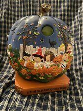 New listing Danbury Mint Peanuts Its The Great Pumpkin Charlie Brown Pumpkin Light