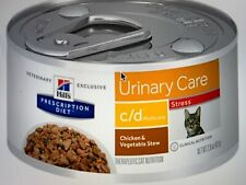 New listing Hill's Pet Nutrition C/D Multi Urinary Care Chkn & Veg Stew Stress 3oz / 24 cans