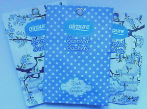 Airpure Scented Sachets - Fresh Linen - Pack of 3 sachets with Free Delivery