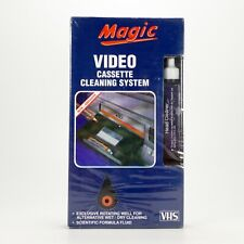 Magic VHS Video Cassette Head Cleaner Wet & Dry Cleaning - New & Sealed