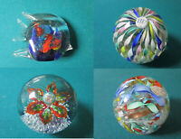 CRYSTAL MURANO PAPERWEIGHT FISH TWIST RIBBONS FLOWERS