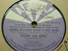 78 rpm- JASPER TAYLOR'S STATE STREET BOYS - It must be the blues -  AFCDJ AO 20