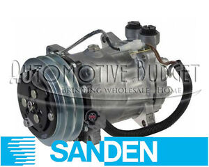 Sanden 4469 A/C Compressor w/Clutch for Ford & Sterling Trucks - NEW OEM