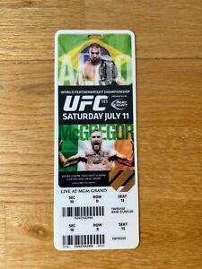 UFC 189 Ticket Stub Limited Edition Conor McGregor 1st UFC Title Victory - RARE