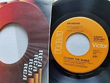 "JIM REEVES - I'd Fight The World / What's In It For Me 1974 COUNTRY 7"" RCA"